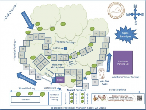 Click on our Interactive Market Map to find your favorite vendors each week.